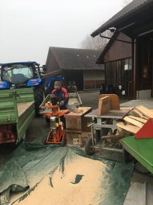 Brennholz verarbeitung